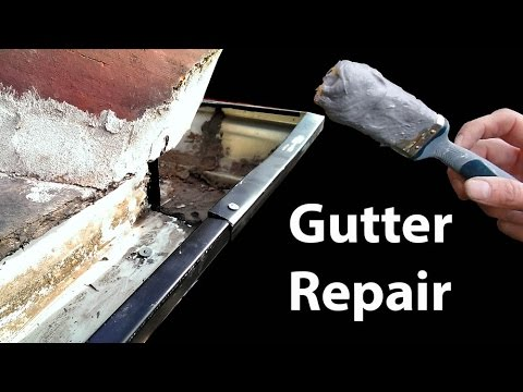 Aluminium Gutter Repair - Stop Leaky Guttering