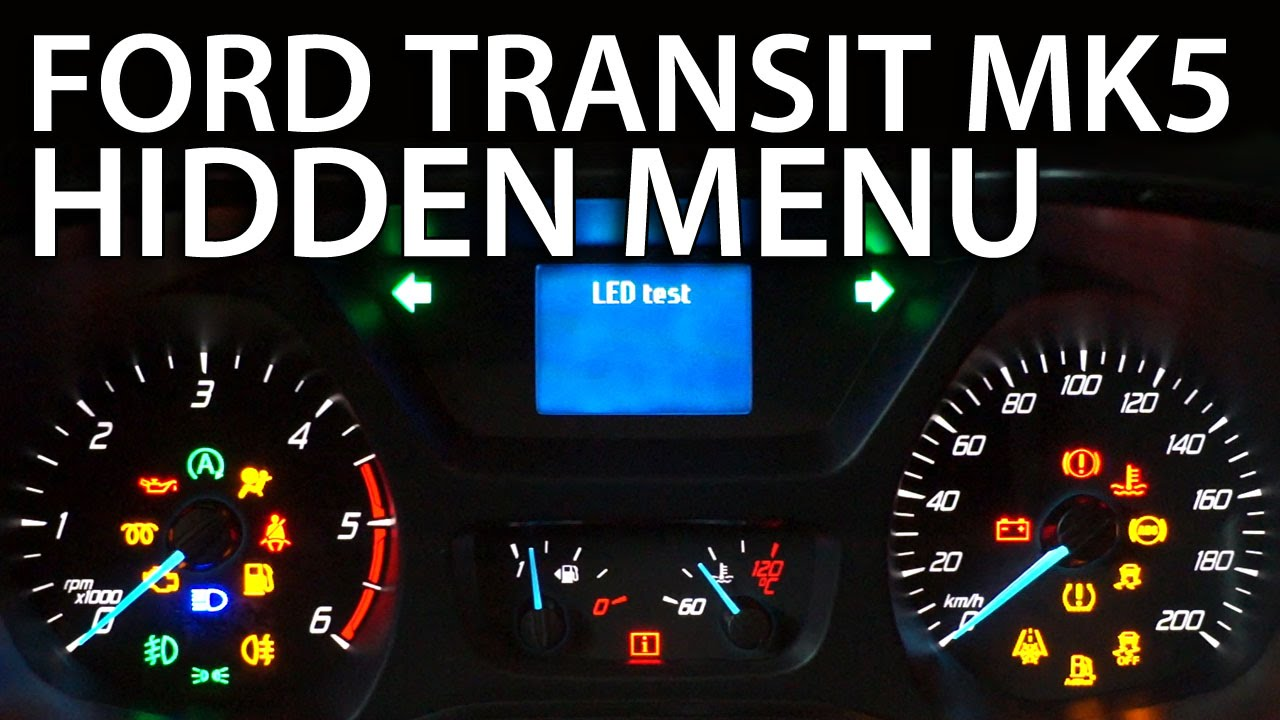How To Enter Hidden Menu In Ford Transit Mk5 Service Test