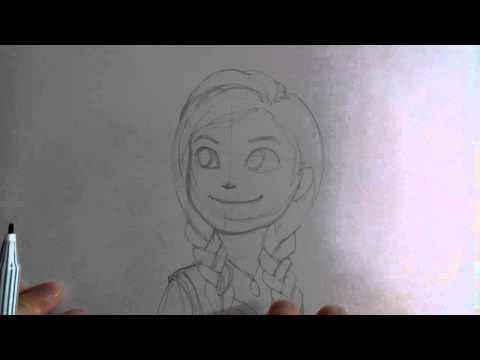 สอนวาดรูปการ์ตูน เจ้าหญิงอันนา Anna's Frozen โดย วาดการ์ตูนกันเถอะ