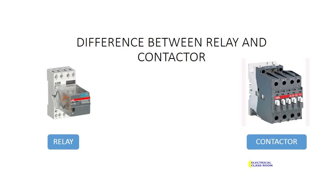 Difference Between Relays And Contactors Youtube Circuit Breaker With Relay