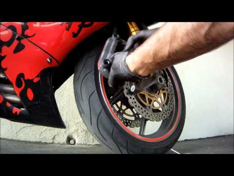 How to Change Motorcycle Brake Pads - ZX6R