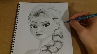 Speed Drawing Elsa (Frozen)