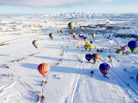 Most Amazing Cappadocia Winter Balloon ride 4K - YouTube
