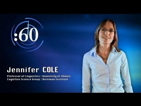 60-Second Science: Jennifer Cole on Speech Processing and Computational Linguistics
