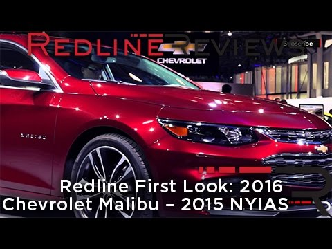 Model 2016 Chevrolet Malibu  Redline First Look  2015 New York Auto