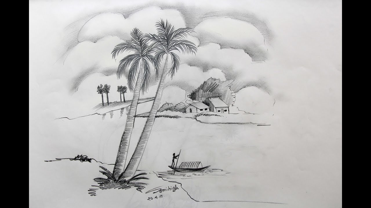How To Draw A Village Scenery Step By Step Pencil Sketch Youtube How to draw village scenery step by step | easy drawing tutorial for kids. how to draw a village scenery step by step pencil sketch