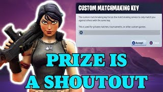( EU ) FORTNITE CUSTOM matchmaking - GAGNANT obtient un PRIZE - OPEN LOBBY GAMES