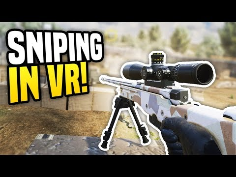 SNIPING IN VIRTUAL REALITY - Zero Caliber VR   Funny Moments!