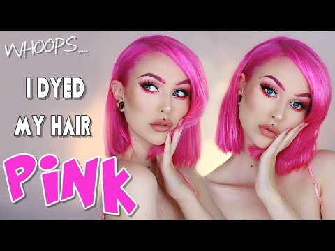 Extreme Hair Makeover ☆ Dyeing my Hair Pink 🦄 Step By Step How To Dye Hair