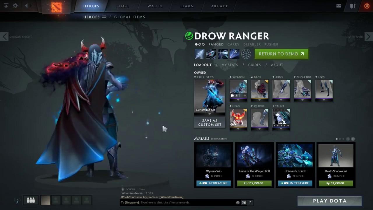 Drow Ranger S Mania S Mask Immortal: Mix Set Drow Ranger Mantap Dan Keren [Dota2]