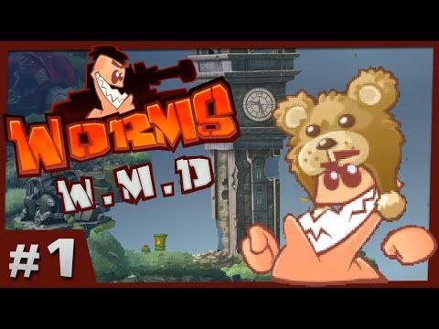 Worms WMD  1  Bazooka Bears! 4 Player Gameplay