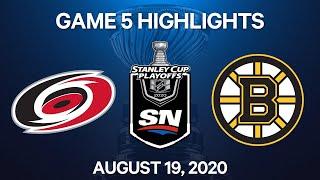 NHL Highlights   1st Round, Game 5: Hurricanes vs. Bruins - Aug. 19, 2020