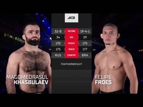 АСА 120: Магомедрасул Хасбулаев vs. Фелипе Фроес   Magomedrasul Khasbulaev vs. Felipe Froes