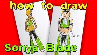 How To Draw Sonya Blade, Mortal kombat