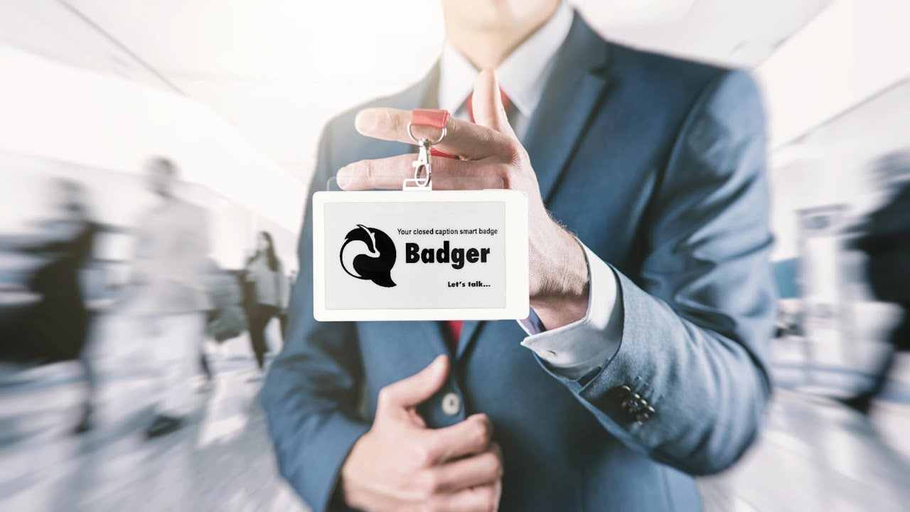 Introducing Badger, the world's first closed captioning smart badge