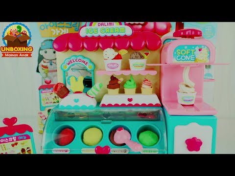 Mainan Anak Ice Cream Shop - Make Your Own Ice Cream Shop - Dalimi Ice Cream Shop Toys