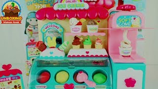 Download Video Mainan Anak Ice Cream Shop - Make Your Own Ice Cream Shop - Dalimi Ice Cream Shop Toys MP3 3GP MP4