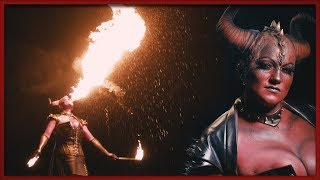 HELLFIRE LADY-DEVIL || FACEPAINTING