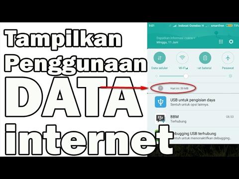 TANPA APLIKASI - Tampilkan Penggunaan Data internet _@Xiaomi/Redmi Mp3