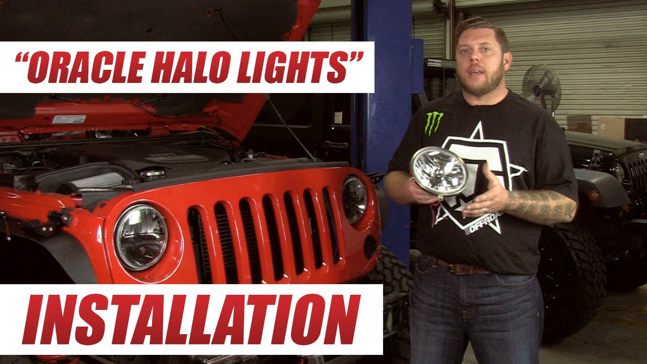 oracle offroad halo lights installation 2013 jeep jk unlimited youtube [ 1280 x 720 Pixel ]