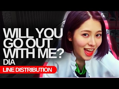 DIA - Will you go out with Me? : CORRECT Line Distribution (Color Coded)