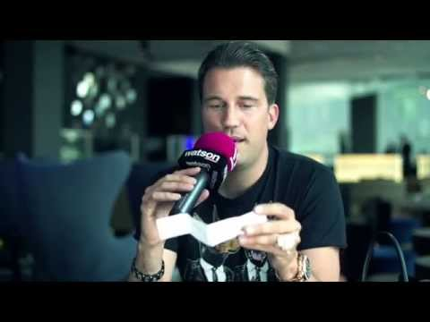 Interview with DJ Antoine who's joking in high pitched voice - FUNNY