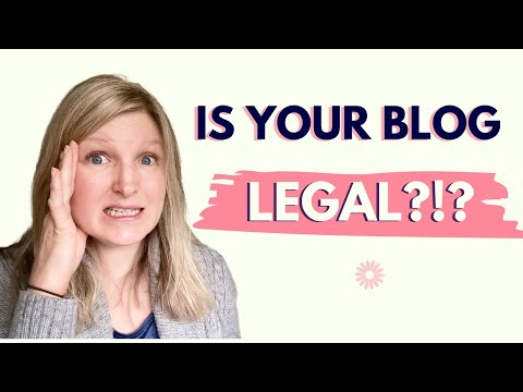 HOW TO LEGALLY PROTECT YOUR BLOG: 3 legal pages you need on your blog & how to create them