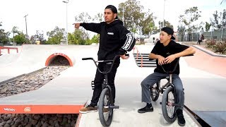 SKATEPARK GAME OF BIKE MIKE HARKOUS vs ANTONIO CHAVEZ