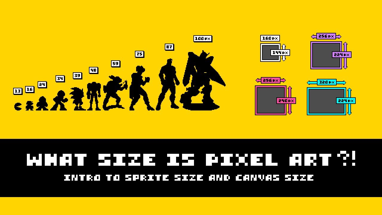 What Size Is Pixel Art Intro To Sprite And Canvas Size Youtube