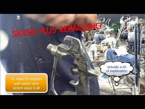 how to repack Graco silver plus paint gun