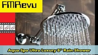 "How to Install Shower Head: Aqua Spa Ultra Luxury 8"" Rain Shower DIY Home Renovation Project"