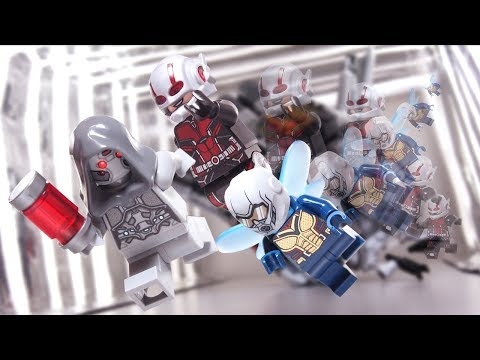 Ant Man and the Wasp VS Ghost fight Scene Lego Stop Motion