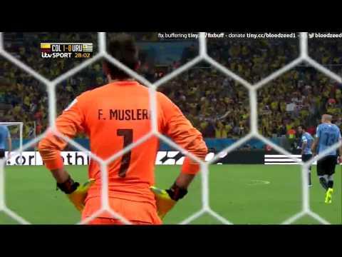 Colombia 1 Uruguay 0 James Rodriguez Jorge Eliecer Torres