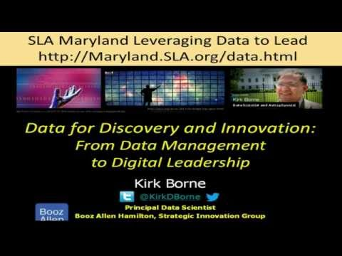 SLA Maryland Leveraging Data to Lead features Kirk Borne: Data for Discovery and Innovation