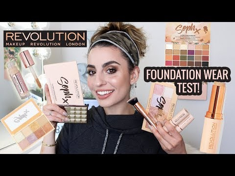 Trying Makeup Revolution + Foundation Wear Test!