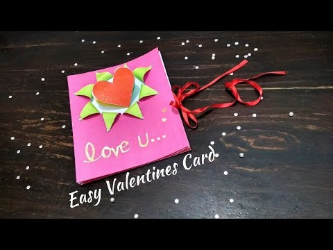 DIY Pop Up Paper Heart Card Make For Boyfriend/Girlfriend | Valentine's Day Greeting Card