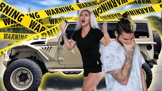 WE CRASHED OUR BRAND NEW JEEP!! ⚰️