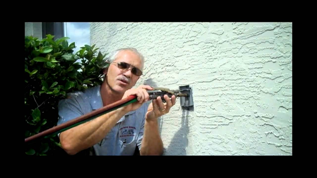 Dealing with tubes in the wall blow back - YouTube