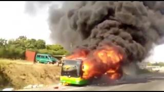 Metro Mass Transit Bus catches fire GH NEWS
