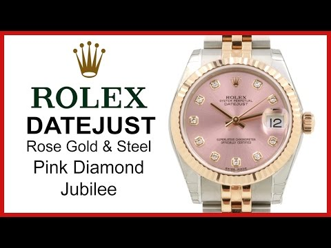 dfec33789e3 ▷ Rolex Datejust 31 Pink Diamond Dial REVIEW 18k Rose Gold & Stainless  Steel Jubilee - 178271 - YouTube