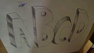 3 Boyutlu Harf Nasıl Çizilir ? - 3D Harf Çizimi - How To Draw 3D Letters (ABCD)