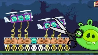 Bad Piggies - CARRYING ALIEN PLANE BY GOLDEN ROPE! CUT THE ROPE!