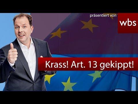 Sensation! Artikel 13 gekippt. Eil-Abstimmung im EU Parlament | RA Christian Solmecke