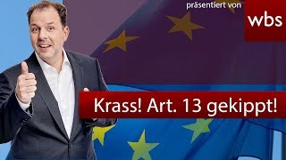 ACHTUNG APRILSCHERZ! Sensation! Artikel 13 gekippt. Eil-Abstimmung im EU Parlament | RA Solmecke