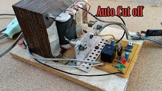 How to make automatic cut off charger battery 12V circuit at home