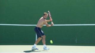 Stanislas Wawrinka Forehand and Backhand - Indian Wells 2013 - BNP Paribas Open