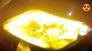 Modifikasi Vario 110 lampu alis biru  disen kuning running