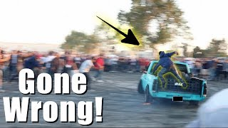 GUY FLYS OFF WHILE DOING DONUTS!! *ACCIDENT*  ( CTI 2018 )