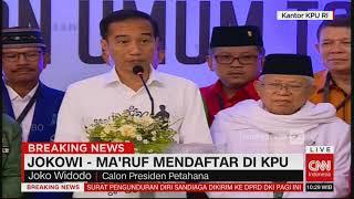 Download Video Puji Prabowo-Sandi, Ini Pidato Lengkap Jokowi Usai Daftar Capres #JokowiMaruf Pilpres 2019 MP3 3GP MP4