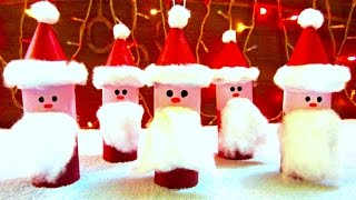 Toilet Paper Roll Santa Claus Ornaments | How to Make Christmas Ornaments